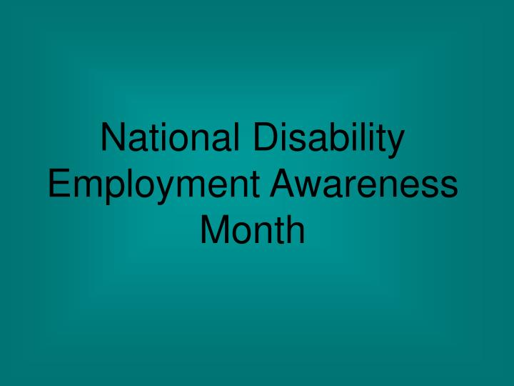 national disability employment awareness month