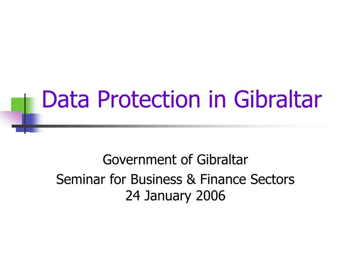data protection in gibraltar n.