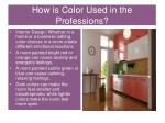 how is color used in the professions