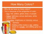 how many colors1