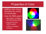 properties of color1