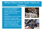 what effect does color have on people