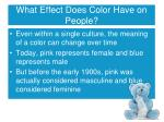 what effect does color have on people1