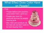 what effect does color have on people2