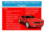 what effect does color have on people3