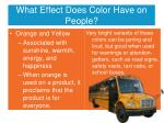 what effect does color have on people4