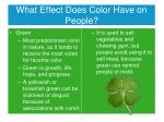 what effect does color have on people5