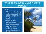 what effect does color have on people6