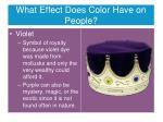 what effect does color have on people7