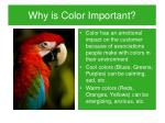 why is color important1