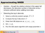 approximating nndd