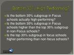 bottom 30 high performing