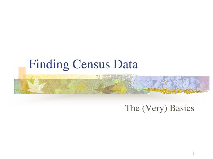 finding census data n.
