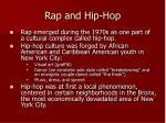 rap and hip hop