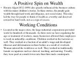 a positive spin on wealth