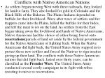 conflicts with native american nations