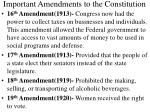 important amendments to the constitution