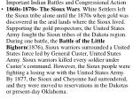 important indian battles and congressional action