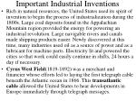important industrial inventions