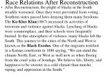 race relations after reconstruction