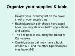 organize your supplies table