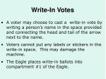 write in votes