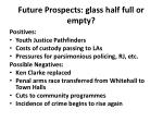 future prospects glass half full or empty