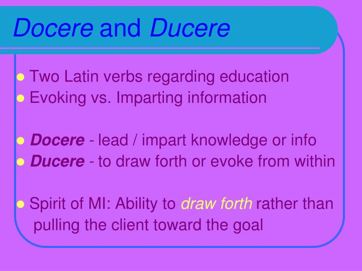 Docere