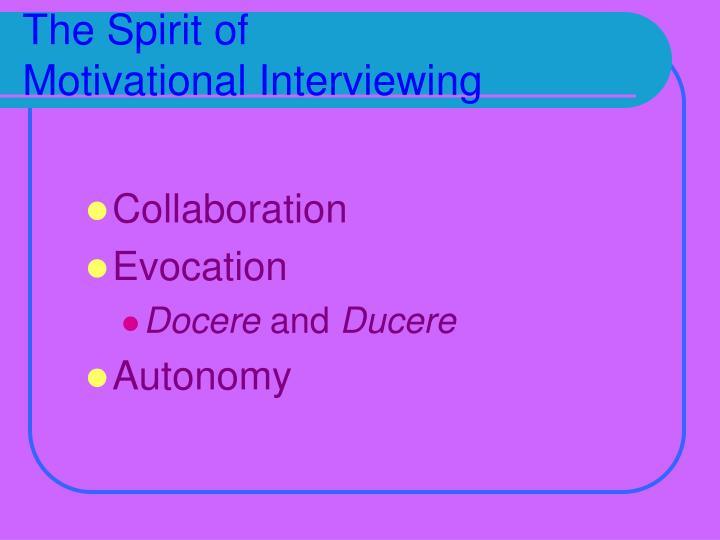 The Spirit of