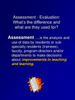 assessment evaluation what s the difference and what are they used for