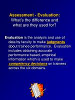 assessment evaluation what s the difference and what are they used for1