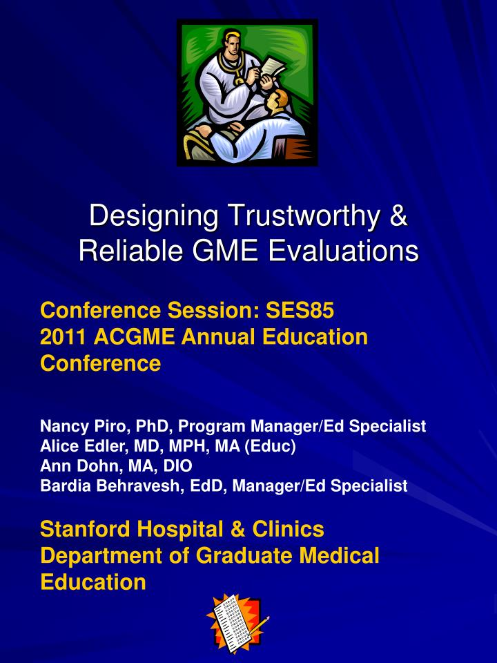 designing trustworthy reliable gme evaluations n.