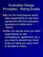 evaluation design principles rating scales