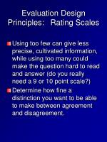 evaluation design principles rating scales1