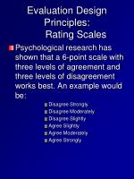 evaluation design principles rating scales2