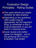 evaluation design principles rating scales3