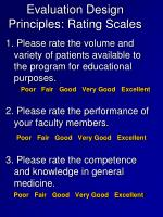 evaluation design principles rating scales4