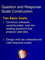 question and response scale construction