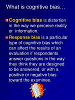 what is cognitive bias
