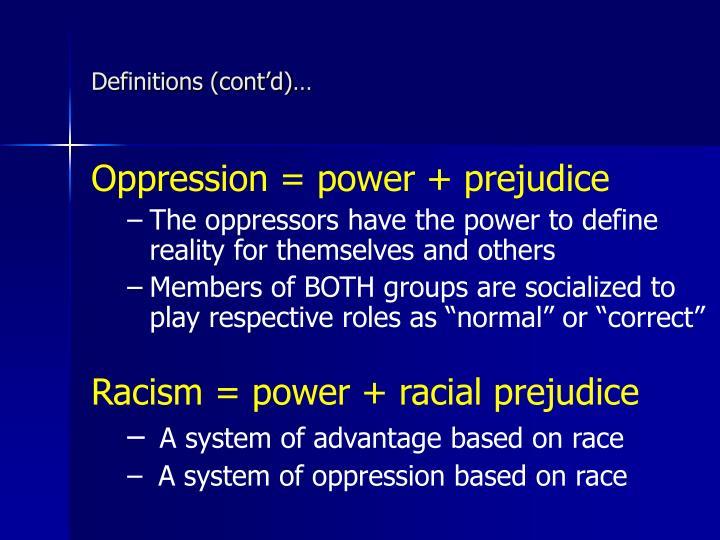 Definitions (cont'd)…