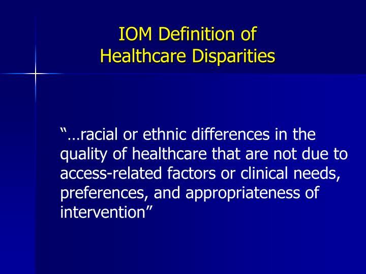IOM Definition of
