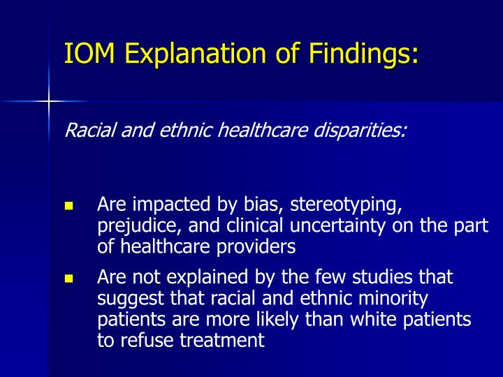 IOM Explanation of Findings: