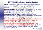 buttresses reduce risk acceleration