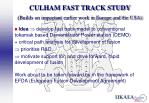 culham fast track study builds on important earlier work in europe and the usa