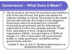 governance what does it mean