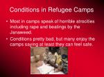 conditions in refugee camps