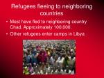 refugees fleeing to neighboring countries