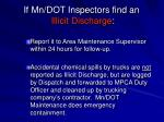 if mn dot inspectors find an illicit discharge