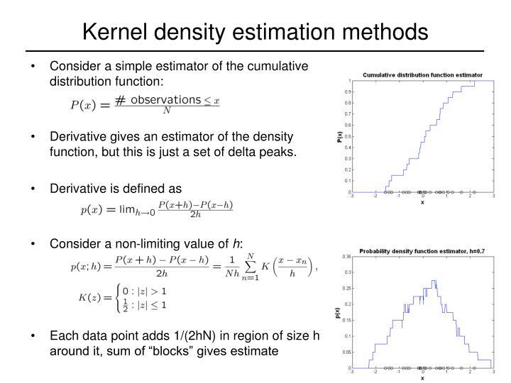 Kernel density estimation methods