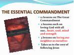the essential commandment